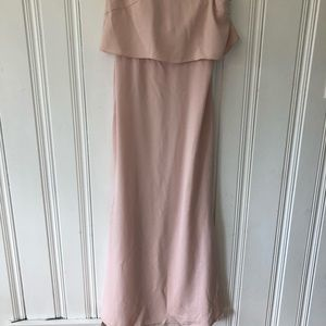 Hayley Paige Occasions Blush Pink Strapless Dress